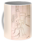 Nude Holding Her Shirt Coffee Mug