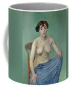 Nude In Blue Fabric, 1912 Coffee Mug