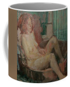 Nude In Old Tub, 2008 Oil On Canvas Coffee Mug