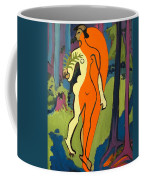 Nude In Orange And Yellow Coffee Mug