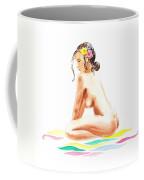 Nude Model Gesture Xvi Tropical Flower Coffee Mug