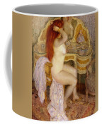 Nude Seated At Her Dressing Table Coffee Mug