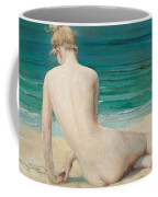 Nude Seated On The Shore Coffee Mug