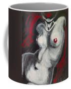 Nude Torso And Red Lips Coffee Mug