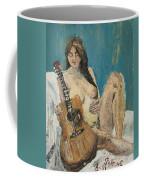 Nude With Guitar Coffee Mug