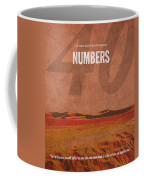 Numbers Books Of The Bible Series Old Testament Minimal Poster Art Number 4 Coffee Mug by Design Turnpike