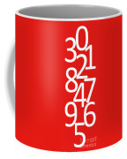 Numbers In Red And White Coffee Mug