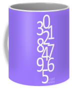 Numbers In White And Purple Coffee Mug