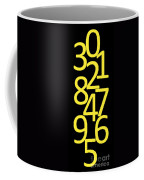 Numbers In Yellow And Black Coffee Mug