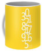 Numbers In Yellow And White Coffee Mug