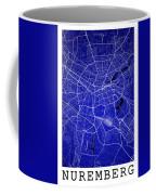 Nuremberg Street Map - Nuremberg Germany Road Map Art On Colored Coffee Mug