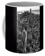 Nyc Downtown - Black And White Coffee Mug