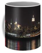Nyc Skyline At Night Coffee Mug