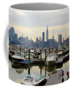 Nyc View From Lincoln Harbor Weehawkin Nj Coffee Mug