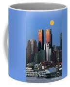 Nyskyline Moonrise At Sundown Coffee Mug