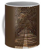 Oak Alley Bw Coffee Mug by Steve Harrington