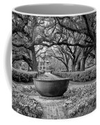 Oak Alley Plantation Landscape In Bw Coffee Mug