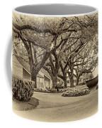 Oak Alley Slave Quarters Sepia Coffee Mug