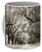 Oak Trees Of Charleston South Carolina In Sepia Coffee Mug