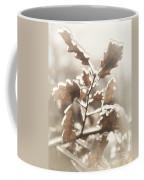 Oak Tree Leaves Frozen In Ice Coffee Mug