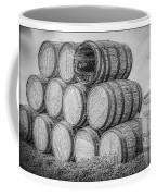 Oak Wine Barrels Black And White Coffee Mug