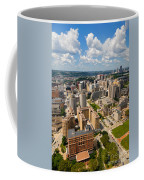 Oakland Pitt Campus With City Of Pittsburgh In The Distance Coffee Mug