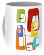 Oblongs On White 3 Coffee Mug