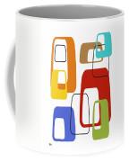Oblongs On White 4 Coffee Mug