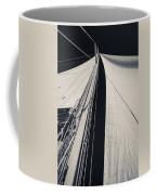 Obsession Sails 2 Black And White Coffee Mug