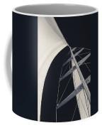 Obsession Sails 5 Black And White Coffee Mug
