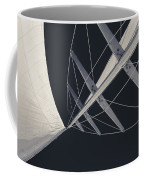 Obsession Sails 7 Black And White Coffee Mug