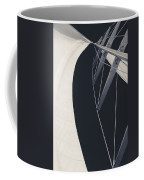 Obsession Sails 9 Black And White Coffee Mug