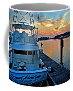 Ocean Addiction Sunset Coffee Mug