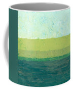 Ocean Blue And Green Coffee Mug by Michelle Calkins