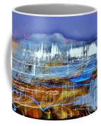 Ocean City Maryland At Night - Blue Coffee Mug