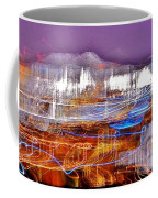 Ocean City By Night - Abstract Purple Coffee Mug