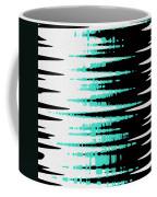 Ocean Gentle Waves Abstract Digital Painting Coffee Mug by Georgeta Blanaru