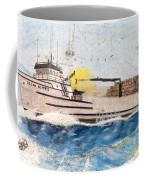 Ocean Olympic King Crab Fishing Boat Nautical Chart Map Art Coffee Mug