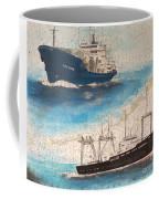 Ocean Phoenix And Excellence Boat Nautical Chart Map Art Coffee Mug