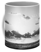 Ocean Sunrise Black And White Coffee Mug