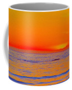 Ocean Sunset In Orange And Blue Coffee Mug