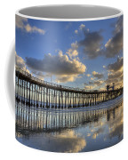 Oceanside Pier Sunset Reflection Coffee Mug