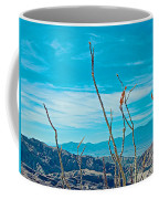 Ocotillo At Top Of Ladder Canyon With Salton Sea In Distance In Mecca Hills-ca Coffee Mug