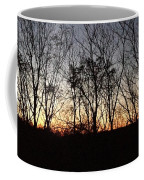 October Sunset Trees Silhouettes Coffee Mug