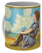 Oh Be My Valentine Postcard Coffee Mug