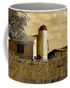 Ohio Farm In Sepia Coffee Mug by Frozen in Time Fine Art Photography