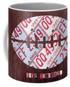 Ohio State Buckeyes Football Recycled License Plate Art Coffee Mug
