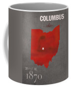 Ohio State University Buckeyes Columbus Ohio College Town State Map Poster Series No 005 Coffee Mug