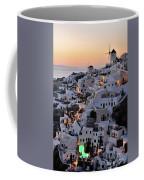Oia Town During Sunset Coffee Mug