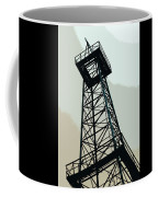 Oil Derrick In Gray Coffee Mug